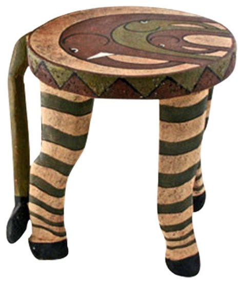 decorative elephant stool small elephant family decorative wooden stool accent and