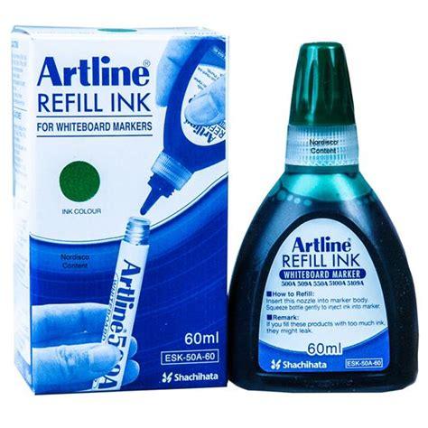 Artline Esk 50 Refill Ink Whiteboard Marker 20 Ml artline whiteboard marker green refill ink esk 50a 60 47438 60ml bottle nordisco