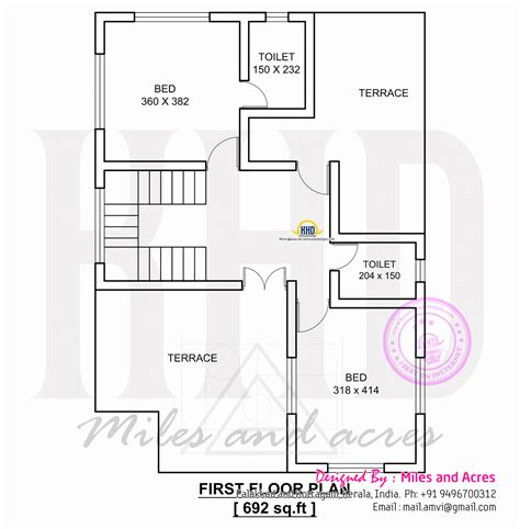 1767 square house plan kerala home design and floor