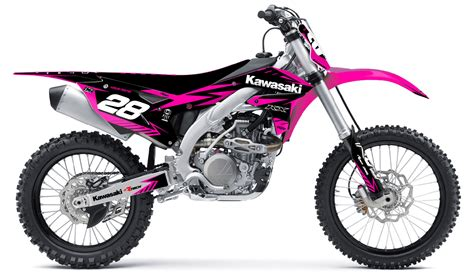 pink motocross bike kawasaki neon pink kit rival ink design co custom