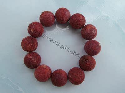 Kalung Tali Kayu Bulat Resin gelang batu karang merah 100 20mm indahcraft