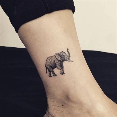 elephant ankle tattoo 25 best ideas about tiny elephant on