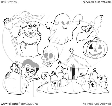 Skull Collage Design Outline by Royalty Free Rf Clipart Illustration Of A Digital Collage Of Coloring Page Outlines