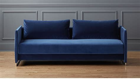navy blue leather sleeper sofa hereo sofa