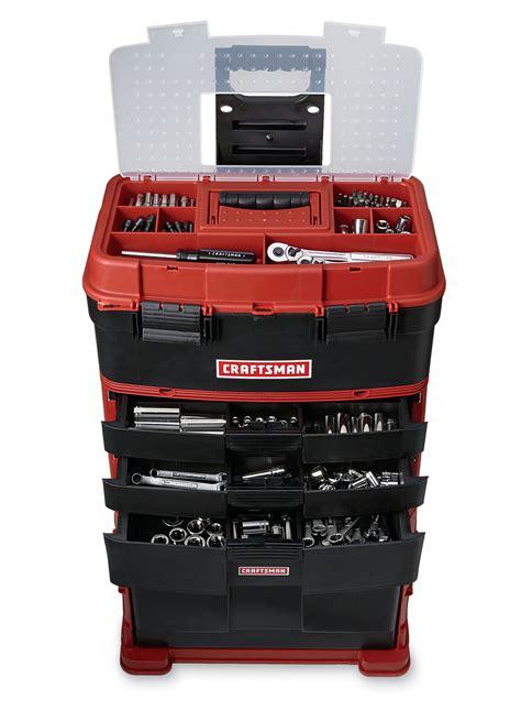 craftsman  piece mechanics tool set  rolling storage