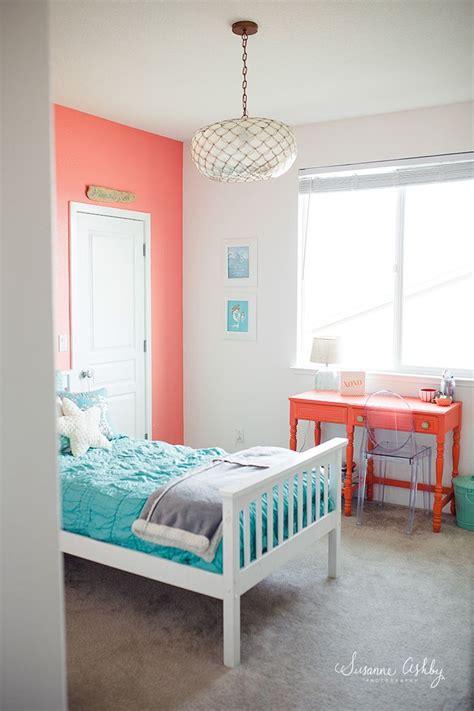 girls bedroom coral  teal kids room decorating ideas