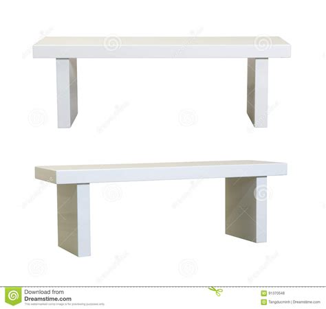 Banc blanc simple photo stock. Image du décoration, objet