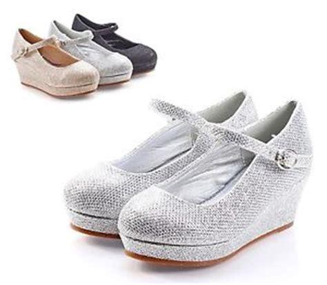 Flat Shoes Gliter Blink Da4257 silver blink glitter pumps buckle heels youth dress shoes size 11 ebay