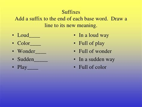 Meaning Of The Word Prefix Suffix And Base Words