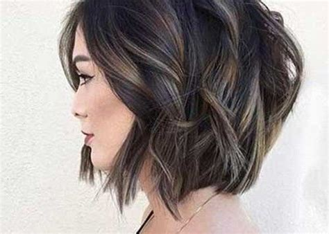 short hair popular hair colors 2018 textured bob haircut with 20 pics brunette bob