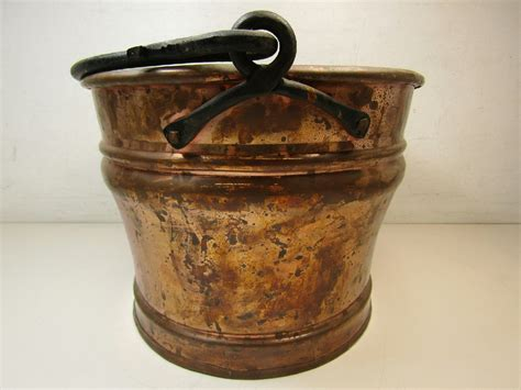 Parcel Pot Oval large oval solid copper planter pot w handle made in turkey