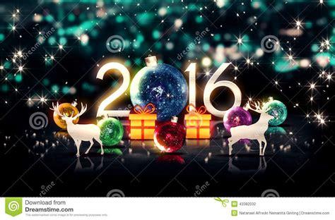 imagenes de merry christmas 2016 nuovo anno blu 2016 del regalo 3d dei cervi di natale