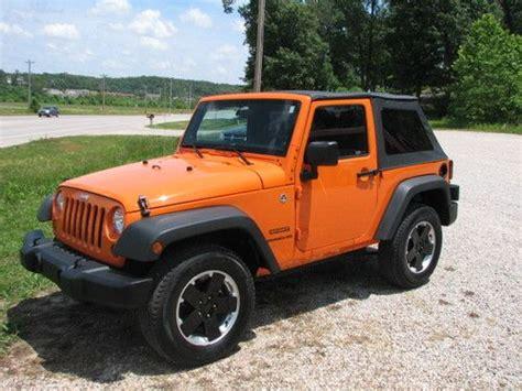 jeep wrangler 4 door orange sell used 2013 jeep wrangler sport 4x4 2 door only 2k