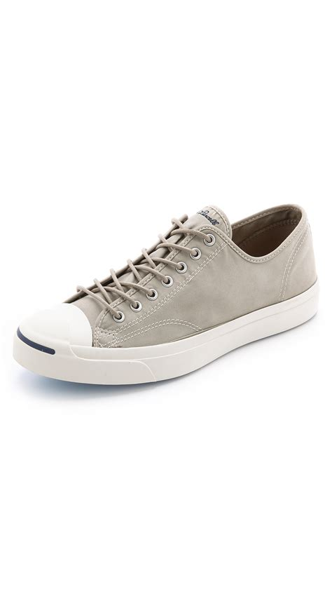 purcell sneakers lyst converse purcell twill sneakers in gray for