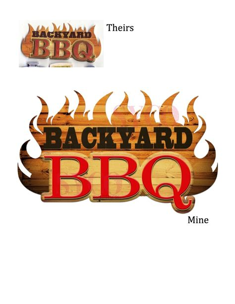 backyard logo backyard bbq logo designed for cory thomas bbq