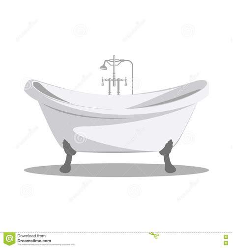 bathtub illustration cartoon retro bathtub icon white with arms and legs stock