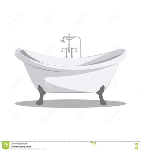 bathtub illustration bathtub illustration cartoon retro bathtub icon white with arms and legs stock