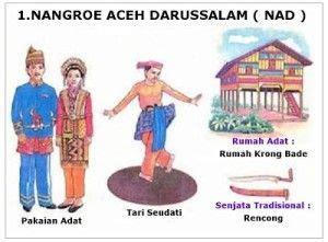 provinsi rumah adat pakaian adat tarian tradisional