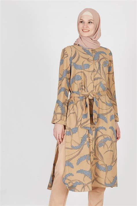 Baju Wanita Atasan Pakaian Moschino Bag Tunik Tunic Blouse Muslim sell rana tunic brown tops hijabenka