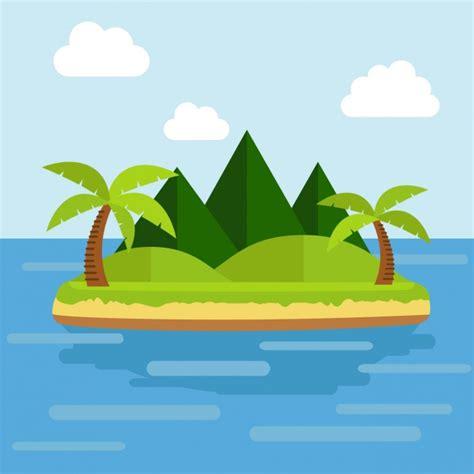 flat design wallpaper vector flat island background design vector free download
