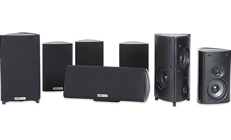 polk audio rm87 home theater speaker system 6 compact