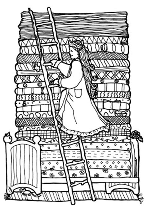 interactive magazine princess and the pea coloring pages
