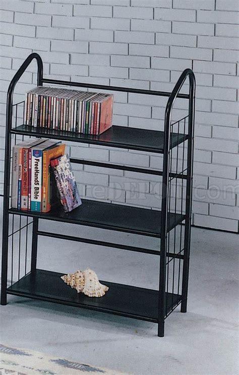 black metal modern 3 shelf bookcase