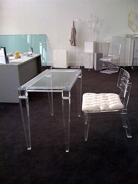 Clear Acrylic Office Chair Cryomats In Clear Acrylic Desk Desks And Chair