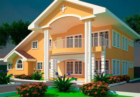 five bedroom house plan house plans ghana offei 5 bedroom house plan in ghana delivery in 7 days
