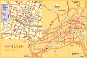 santa fe map santa fe tourist map santa fe new mexico mappery