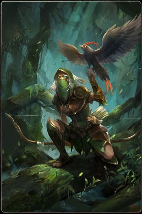 ranger bird ranger bird falcon forest dynamic l escapade