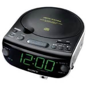 sony machine dual alarm clock cd player with am fm stereo radio tuner digital display