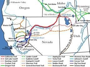 map of oregon trail 1850 1820 1860 western trails 1820 1860 antebellum