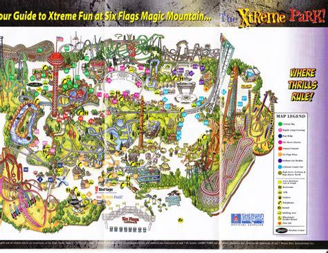 six flags magic mountain map usimawic six flags magic mountain map park