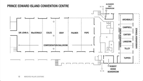 ta convention center floor plan pei convention centre floor plan meetings and