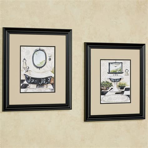 bath framed wall art set