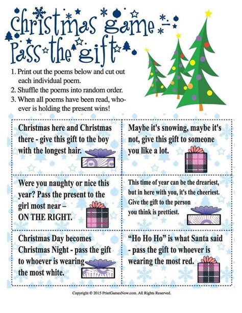 christmas pass the gift game 171 best images on birthdays and kid