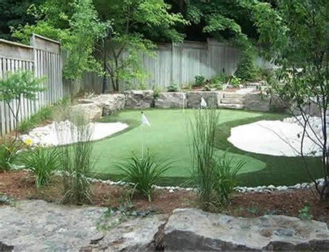 green backyard ideas backyard putting green guests can get in their golf