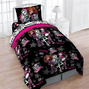 mattel monster high creep cool reversible twin bedding set
