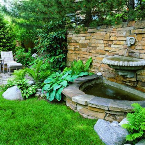 Splashy Wall Fountain Garden Feature Wall Ideas