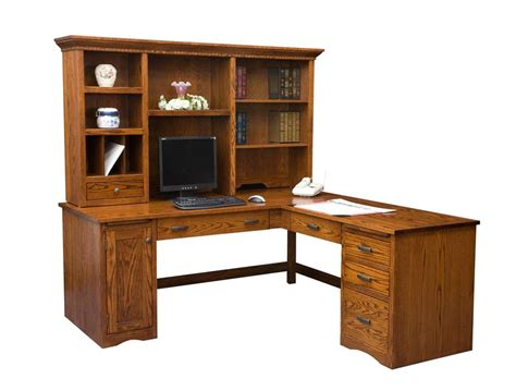 Desk With Return And Hutch Mission Computer Desk With Return And Optional Hutch From