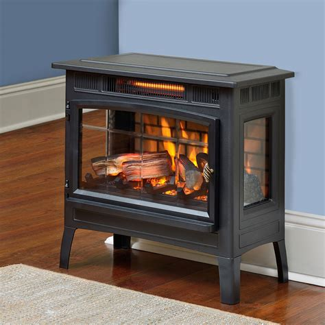 duraflame electric fireplaces duraflame 3d black infrared electric fireplace stove with