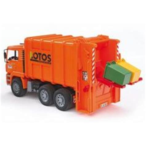 bruder toys logo the scania r series green garbage truck from the bruder