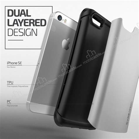 Verus Thor Series For Iphone 5 S Se Satin Silver verus thor series drop iphone se 5 5s light