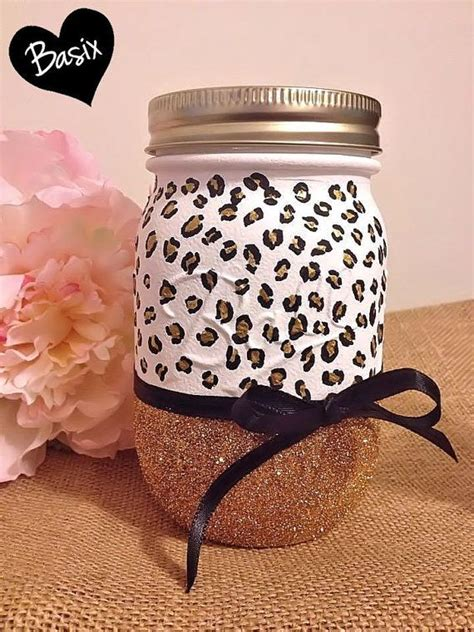 cute diy animal jars perfect to organize a children s painted animal print mason jar with glitter cute way to