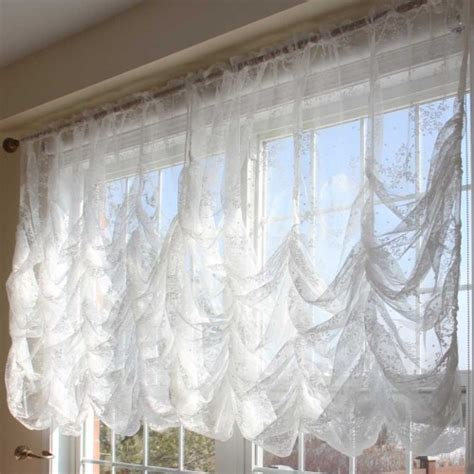 balloon lace curtains austrian balloon curtain
