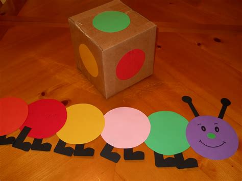 color craft for learning and teaching with preschoolers caterpillar