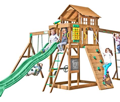 creative play swing sets creative playthings playtime cypress wooden swing set