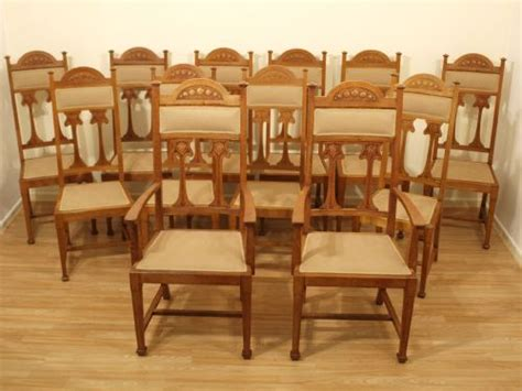 Arts And Crafts Dining Chairs A Set Of 12 Oak Arts Crafts Period Antique Dining Chairs 202282 Sellingantiques Co Uk