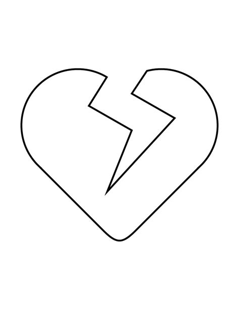 Broken Heart Stencil H M Coloring Pages Broken Coloring Pages